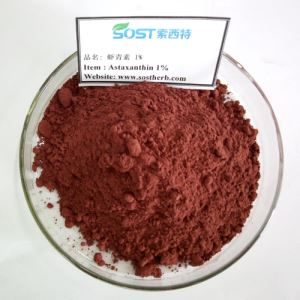 Astaxanthin Powder 10%, Haematococcus Pluvialis Extract Powder, China Astaxanthin Antioxidant Factory